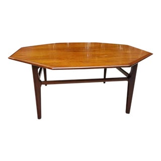 Mid-Century Octagonal Wood Coffee Table