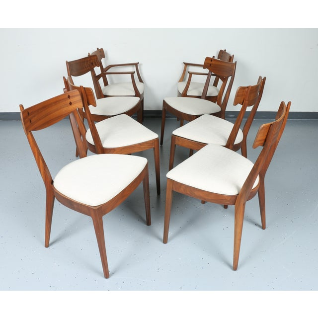 Kipp Stewart for Drexel set of 8 Dining Chairs - Image 3 of 11