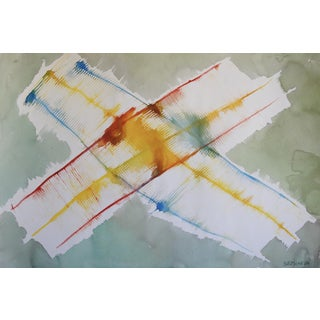 Jacob Semiatin Abstract Watercolor Painting