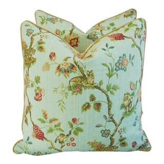Italian Scalamandre Fleur Des Indes Pillows - Pair