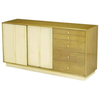 Harvey Probber Bleached Mahogany & Ivory Leather Dresser