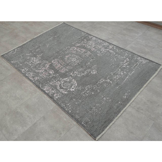 Gray Overdyed Turkish Rug - 3′11″ X 5′11″ - Image 2 of 9