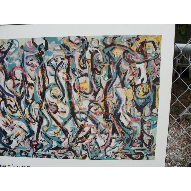 Vintage 1989 jackson pollock mural poster chairish for Mural 1943 by jackson pollock
