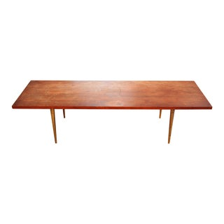 Mid-Century Coffee Table With Brass Legs
