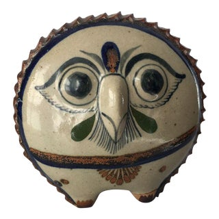 "Vintage Owl Pottery Figurine Signed ""R"""