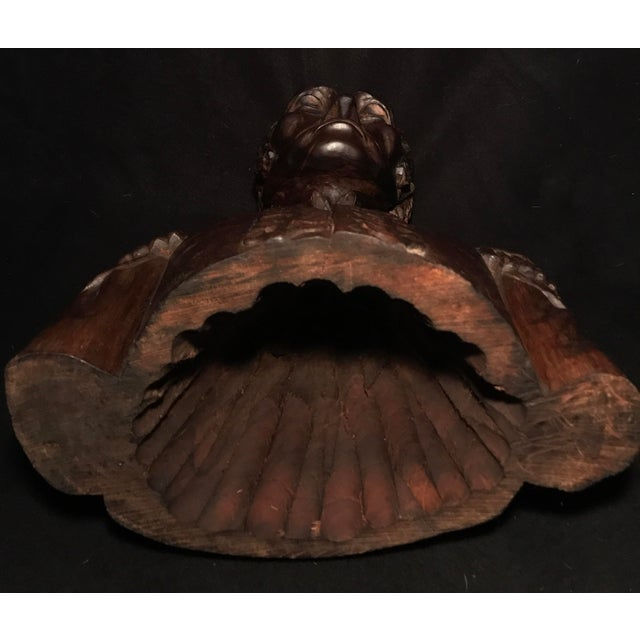 Circa 1970 Carved Wood Statue - Image 9 of 11