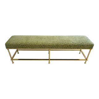 Vintage 1970s Brass Bench