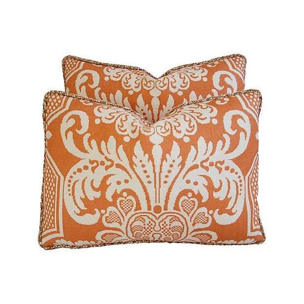 Custom Vervain Trocadero Linen Pillows - Pair - Image 4 of 8