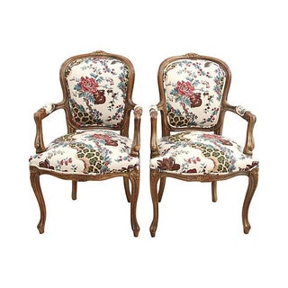 Antique Louis XV Style Fauteuils - A Pair