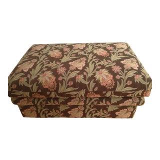Custom Tapestry Upholstered Ottoman