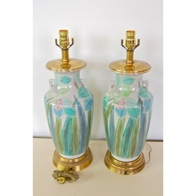 Chinoserie Hand Painted Fredrick Cooper Lamps - 2 - Image 9 of 9