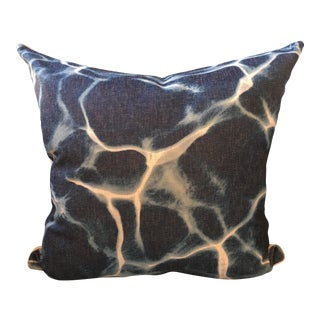 Marbleized Linen Pillow Cover