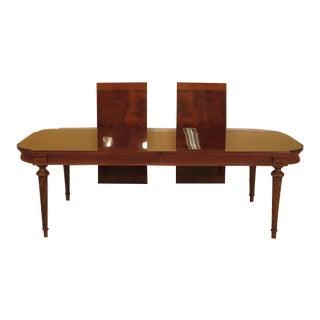 EJ Victor Regency Burl Walnut Dining Room Table