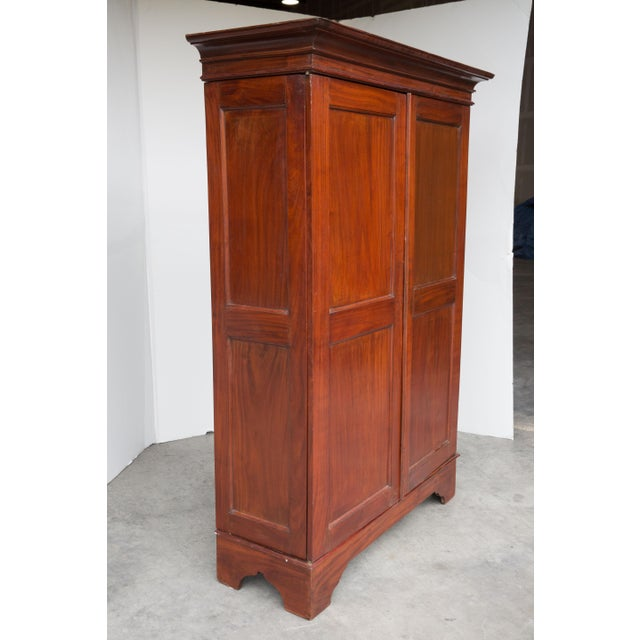 antique dutch colonial armoire from ceylon chairish. Black Bedroom Furniture Sets. Home Design Ideas