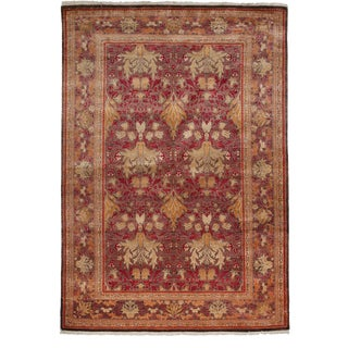 """Arts & Crafts Hand Knotted Area Rug - 6'0"""" X 8'9"""""""