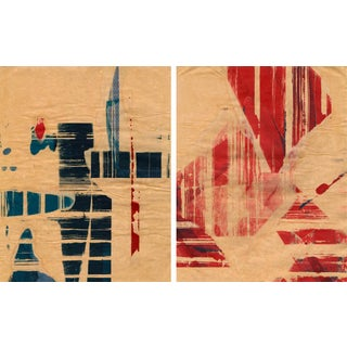 Mixed Media Print - Red Meets Blue No. 08 & 14