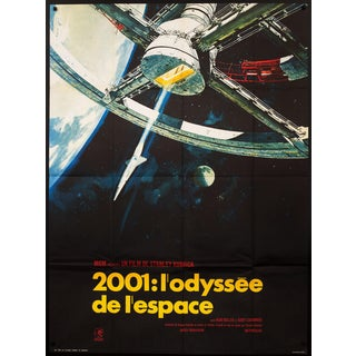 Vintage French '2001: A Space Odyssey' Stanley Kubrick Film Poster
