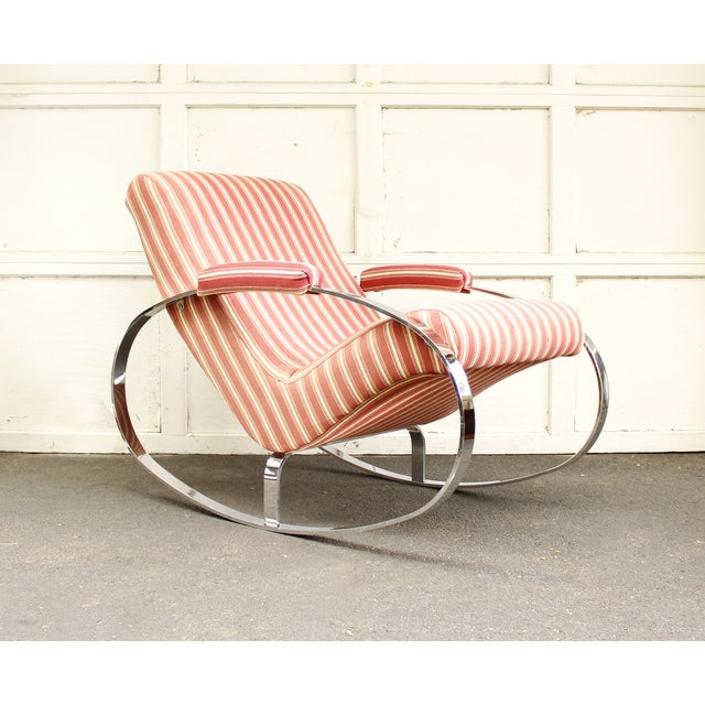 Guido Faleschini Mid-Century Chrome Rocking Chair - Image 2 of 9