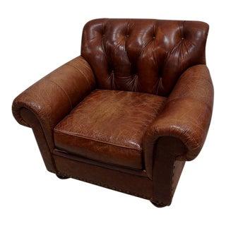 Woodmark Tufted Leather Club Chair