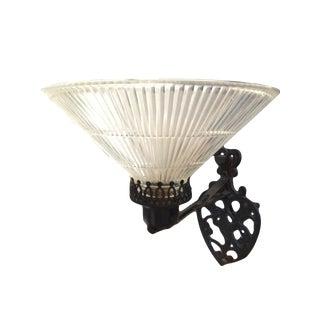 Black Bird & Heart Motif Glass Torchiere Shade Wall Sconce