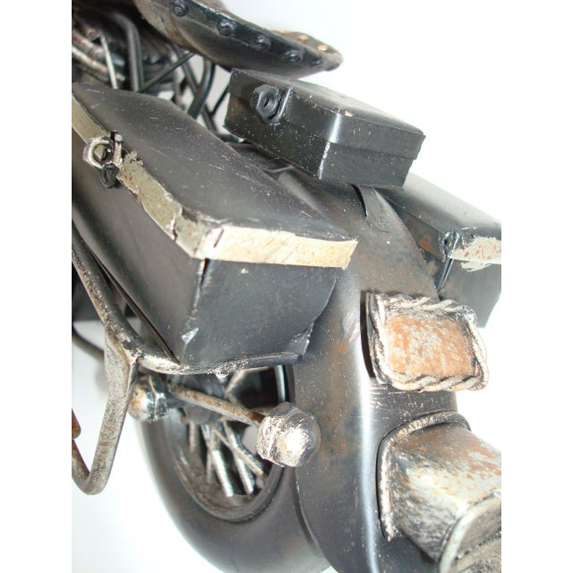 Metal Motorcycle With Moving Parts - Image 6 of 7
