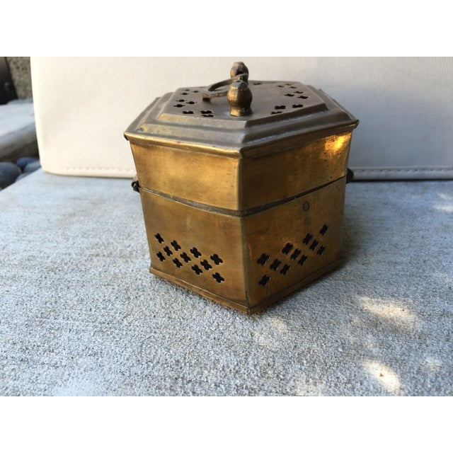 Hexagonal Brass Cricket Box - Image 3 of 8