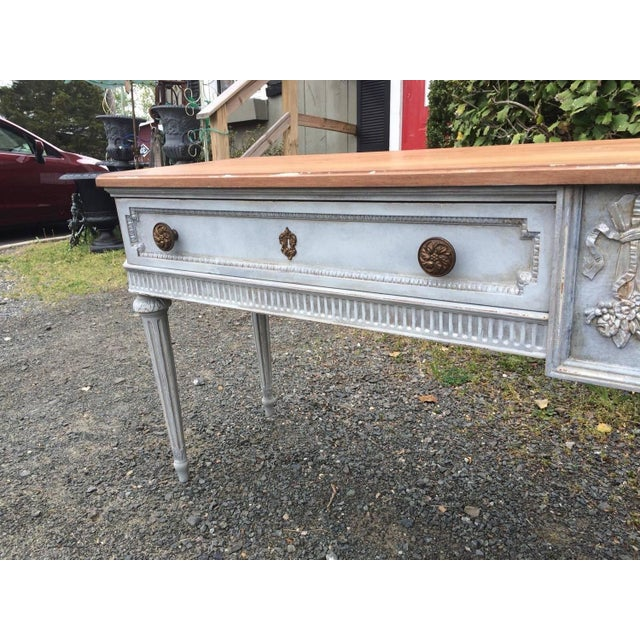 Vintage Gustavian Style French Console Table - Image 2 of 7
