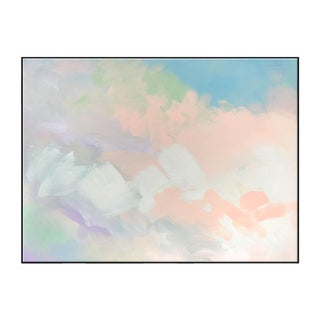 """Abstract Peach Pair No. 1"" Framed Giclée Print"