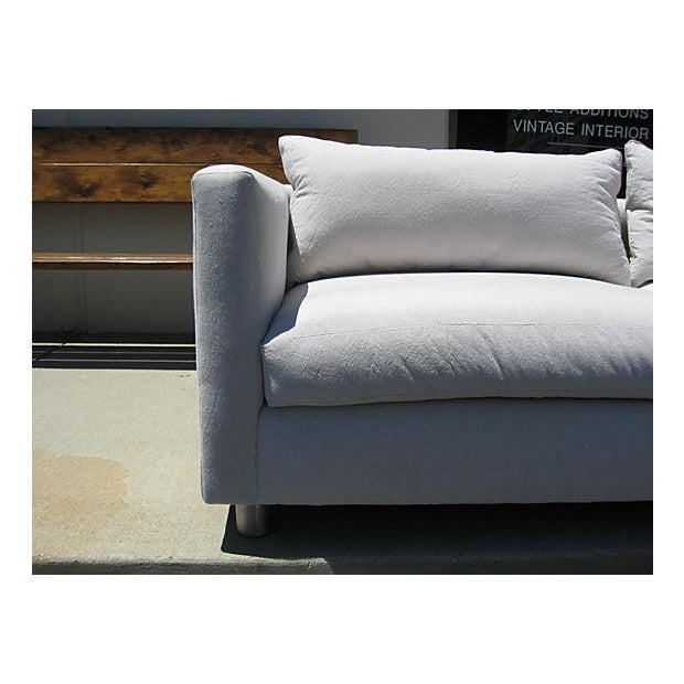 Mid-Century Modern Canvas Sofa - Image 3 of 8