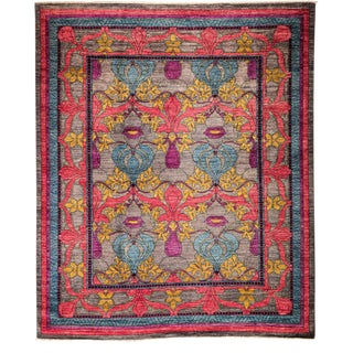 "Arts & Crafts, Hand Knotted Area Rug - 8' 1"" x 9' 7"""