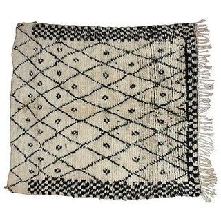 Moroccan Beni Ourain Rug - 4′ × 4′6″