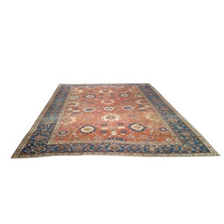 Antique Persian Heriz Knotted Rug - 9′6″ × 12′4″