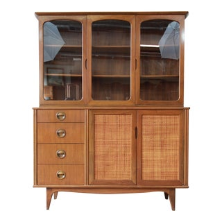 Mid-Century Modern Woven Front Dining Cabinet by Landstrom