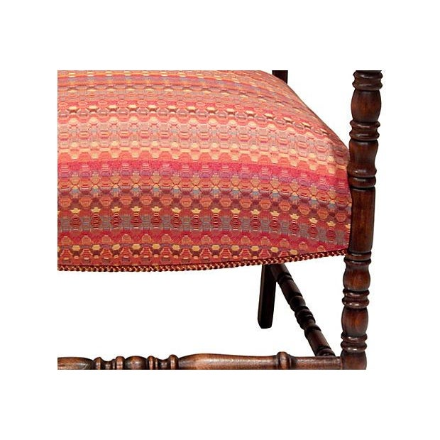Image of Turned Walnut Arm Chair