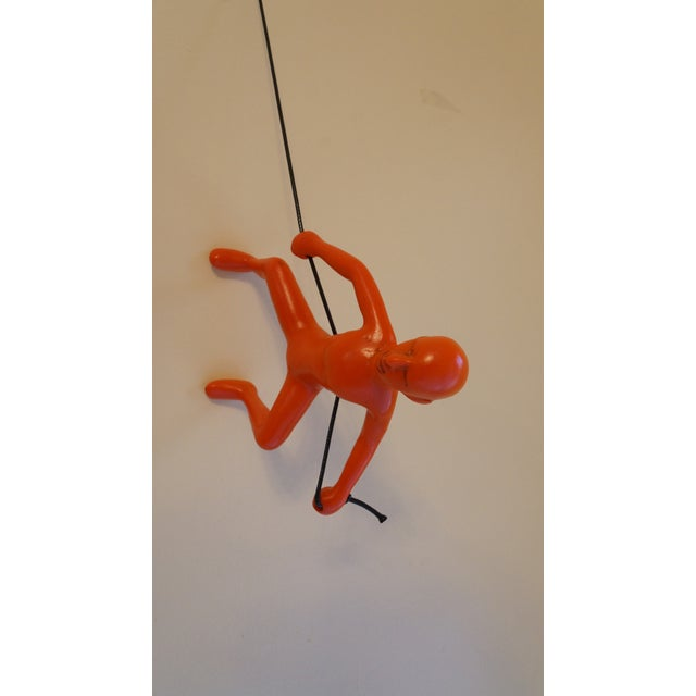 Orange Exclusive Position Climbing Man Wall Art - Image 2 of 4