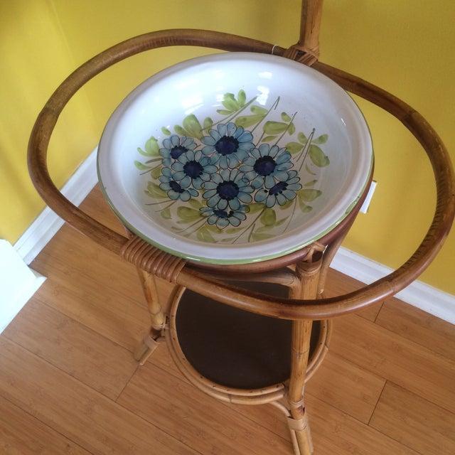 Bamboo Wash Stand Amp Mirror Chairish