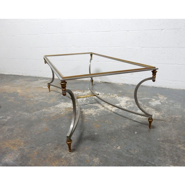Vintage French Decorative Coffee Table With Brass - Image 9 of 11