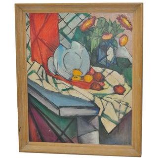 Mid Modern Still Life Oil Painting C.1950's