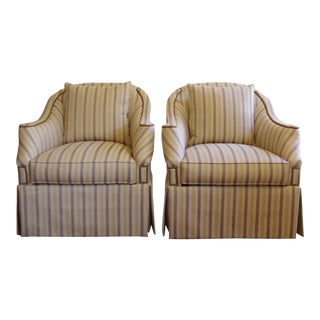 Hickory Chair Eton Swivel Chairs - A Pair