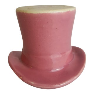 1940s Rose Pottery Top Hat Voltive holder