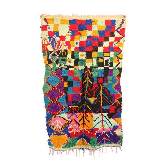 "Vintage Azilal Moroccan Berber Rug - 3'3"" x 5'9"" - Image 1 of 2"