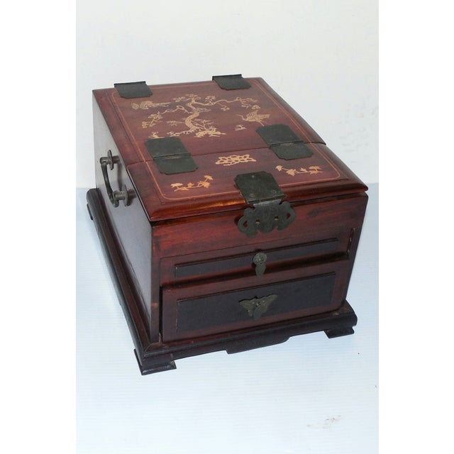 Chinese Rosewood Dressing Box With Bone Inlay - Image 2 of 10
