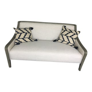 Crate & Barrel Loveseat & Pillows - Set of 3