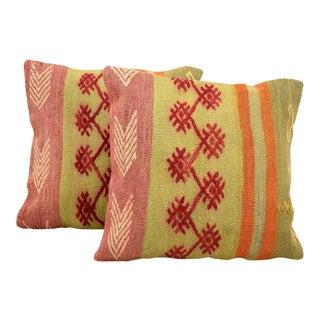 Antique Turkish Kilim Pillow Covers - a Pair