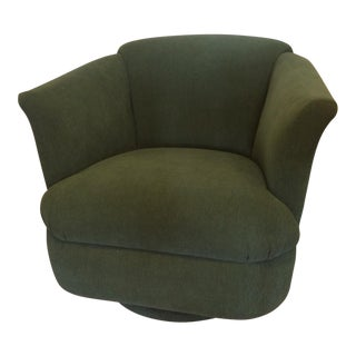 Green Swivel Barrel Chair