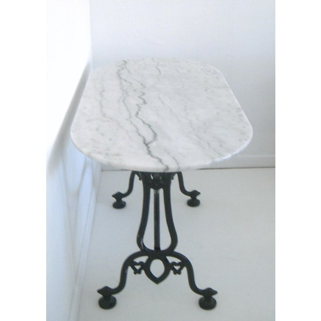White Italian Marble Console/Bistro/Dining Table - Image 3 of 8