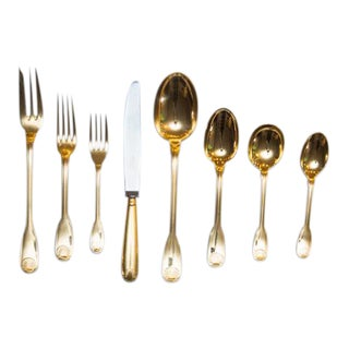 Christofle Vendome Gold-Plated 65 Piece Service Set