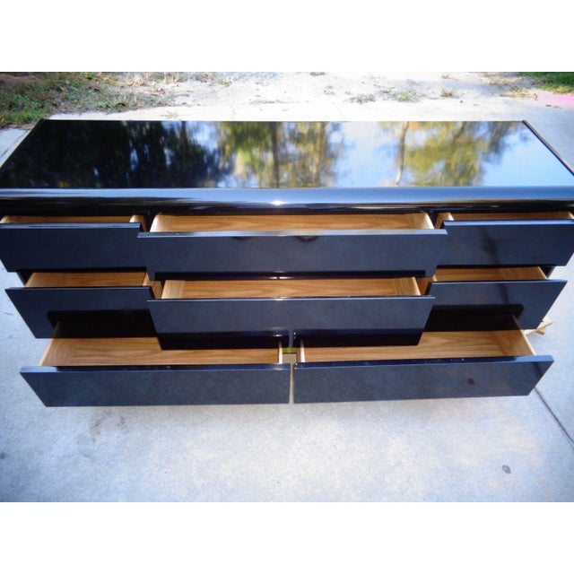 Lane Black Lacquer Hollywood 1987 Chest - Image 5 of 11