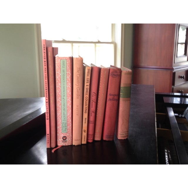 Image of Coral Decorative Books - Set of 9