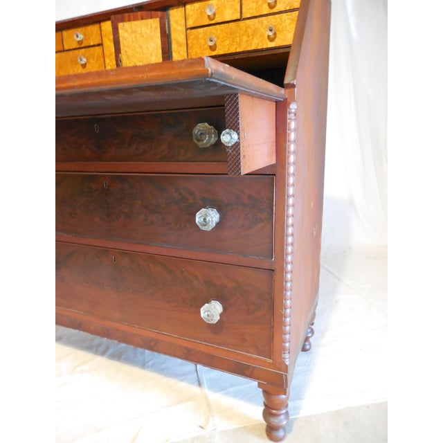 Signed Pennsylvania 1836 Cherry Slant Front Desk - Image 6 of 11